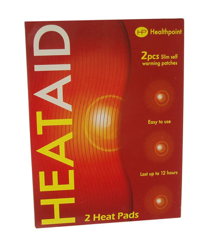 HeatAid Self warming patches (Twin Pack) 13 x 10 cm