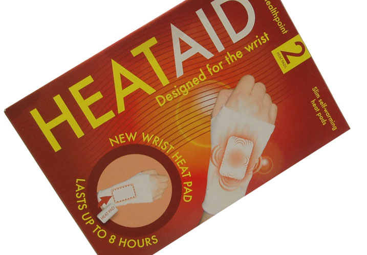 HeatAid designed for the wrist. (2 Heat Pads)